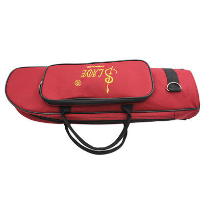 Fashionable Trumpet Soft Case Music Protective Bag Red Oxford Cloth Cotton