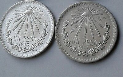 SET MEXICO 1 Peso CAP & RAYS 1920 , 1922, 1923 and 1925