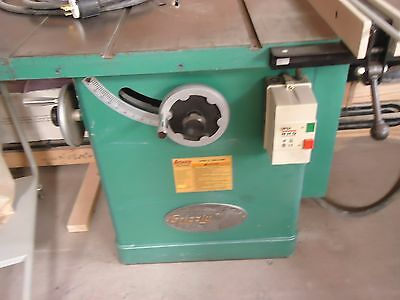 """Grizzly 12"""" 5 Hp. Industrial Table Saw Single Phase"""