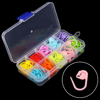 120pcs/Box Knitting Crochet Craft Locking Stitch Needle Markers 10 Colors