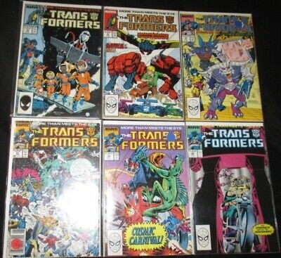The Transformers U-PICK ONE #36,37,40,41,44 or 46 Marvel (1988) PRICED PER COMIC