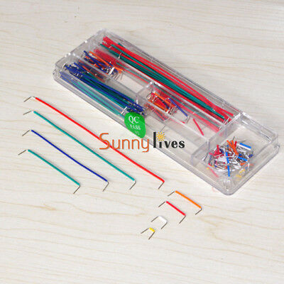 140pcs U Shape Solderless Breadboard Jumper Cable Wire Kit for Arduino Assorted