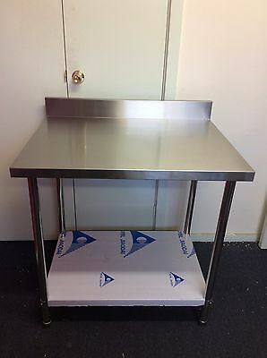 Brand New Commercial Stainless Steel Kitchen Bench with splash back 900x700x900