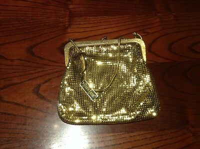 Vintage Retro Genuine Parklane Gold Evening Bag.