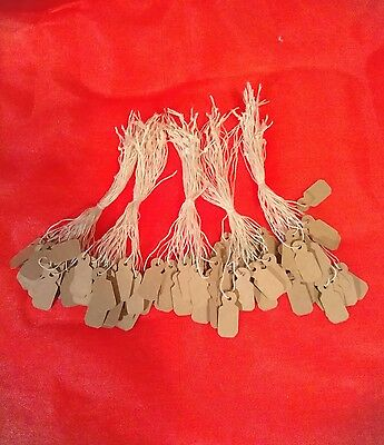 100 brown kraft Jewelry Price tags, retail price tags merchandise tickets/labels