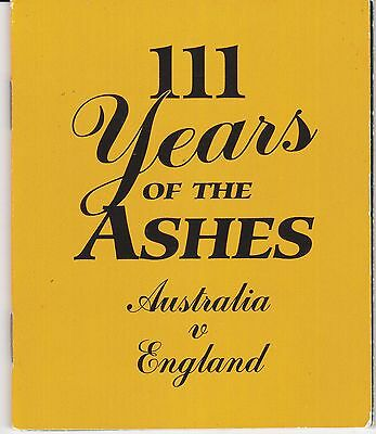 """111 Years of the Ashes """"Australia V England"""""""