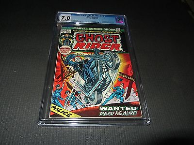 Ghost Rider 1 CGC 7.0 F/VF, 1st Son of Satan in Cameo (Marvel 1973)