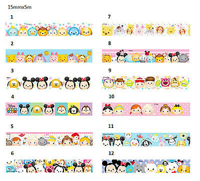 Disney Tsum Tsum Washi Tape Paper Masking Decorative Scrapbooking 15mmx5m
