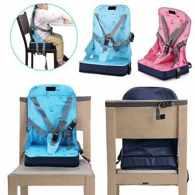 Fashion Portable Baby Toddler Infant Dining Chair Booster Seat Harness Safety CA
