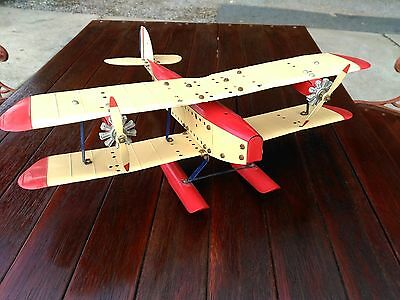 Vintage Pre War  Meccano Sea Airplane - Tin Plane - Kit Toy 1930s  RARE FIND