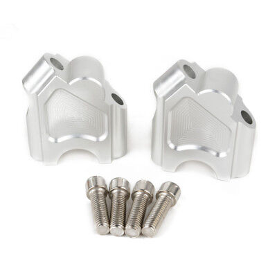 Silver Motorcycle Handlebar Riser Kit Moves Bar Up For BMW F650GS F700GS 08-17