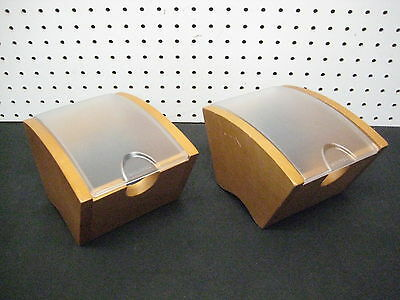 LOT of 2 - ROLODEX Two Wood  DeskTop Office Business Card 2-5/8 by 4 inch Cards