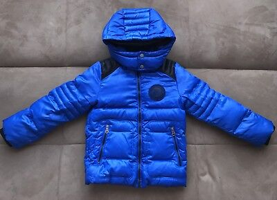 Diesel Boys Navy Blue Down Puffer Jacket Size 5