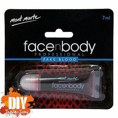 Mont Marte Face N Body Professional Fake Blood 7ml Bruises Scrapes Rashes Burns