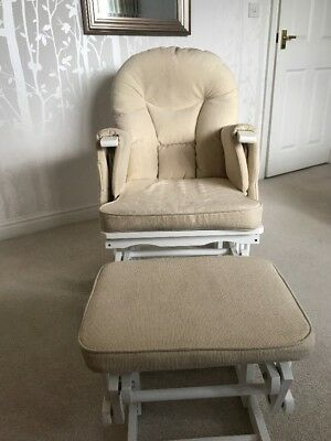 Gliding Nursery Chair And Footstool