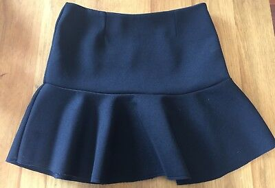 Country Road Black Mini Flutter Skirt Small