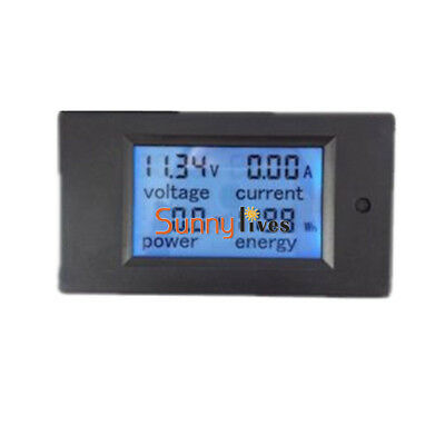 50A DC Digital LCD Voltage Panel Meter Monitor Power Energy Voltmeter Ammeter