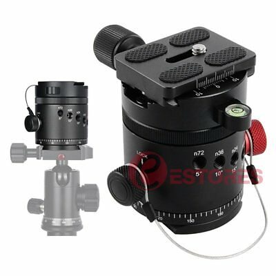 DH-55D Panoramic Indexing Rotator Ball Head +Quick Release Plate For DSLR Tripod
