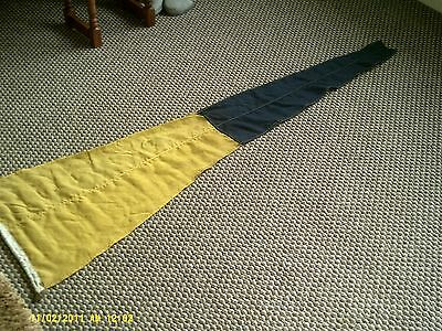 "maritime signal flag approx 18"" x 58"" yellow and dark blue"