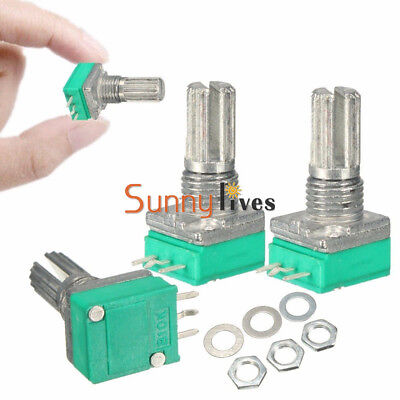 3Pcs 6mm Knurled Shaft Single Linear B Type10K ohm Rotary Potentiometer New