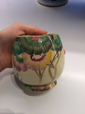 Clarice Cliff Hand Painted, Signed, Small Vintage Pot