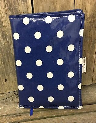 A5 Diary Cover,Journal Cover,Nurses Diary Cover,Page To View,Navy Blue Spotty