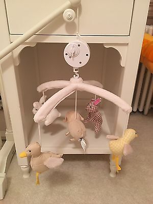 Pottery Barn Kids Peter Rabbit Animals Music Crib Mobile Complete Set GUC