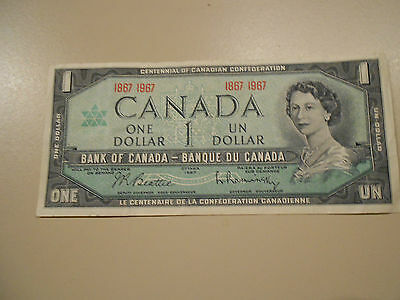 Canada One Dollar 1967 With Specialprefix  Numbers