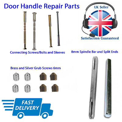 Door Handle Screws, Fixings, Sleeve, Bolts, Spindles, Grub Screw Spare Parts