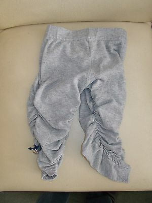 Cute Baby Girls Leggings Age 6 Months Grey Gathered Sides And Tag Elasticated Wa