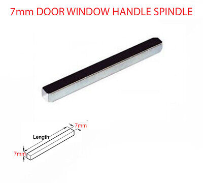 Door Windows Handle Spindle Short / Long 7mm x 40mm TO 140mm, Solid Steel