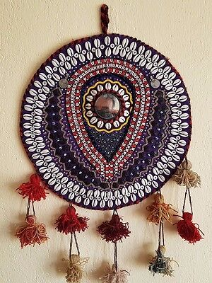 Handmade Tribal Turkish Wall Hanging Natural Wool & Felt Amulet against evil eye