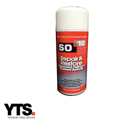SO-10 Suspended Ceiling Tile Restorer Repair & Restore Ceilings 400ml