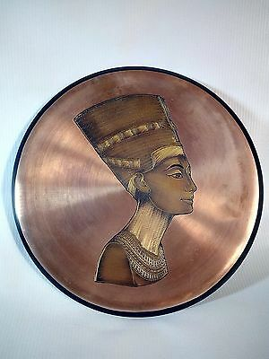 egyptian antique : circular plate with pharaonic drawings