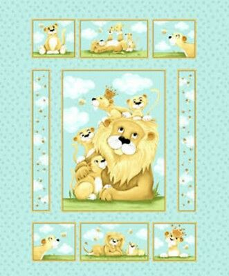 Susybee Lyon The Lion Quilt Panel * Adorable * Free Post * 🐹