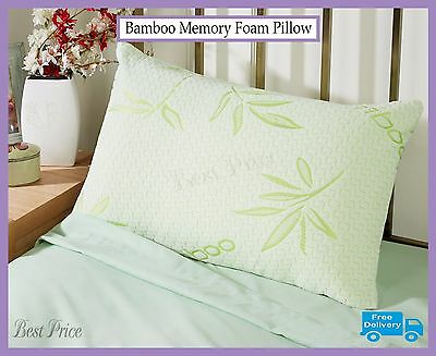 Luxury Bamboo Memory Foam Pillow, Anti-Bacterial Premium removable pillow case