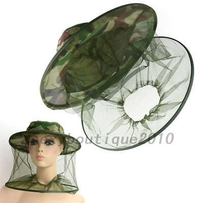Insect Mosquito Net Mesh Face Fishing Hunting Outdoor Camping Hat Protector UK