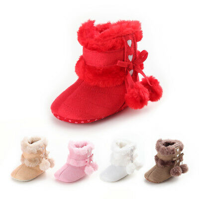 US Baby Girl Boy Snow Boots Winter Boots Infant Toddler Newborn Crib Shoes 0-18M