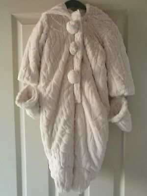 girls 9-12 months fluffy snow suit