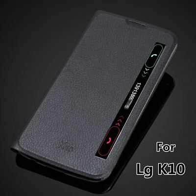 View Window Smart quick cover case for LG K10 K410 K420N Auto sleep super thin f