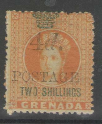 GRENADA SG41 1888 4d on 2/= ORANGE MTD MINT