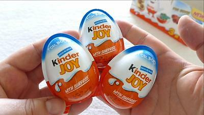10 X *Boys* - Chocolate Kinder Joy Surprise Eggs Gift Inside Kids Easter