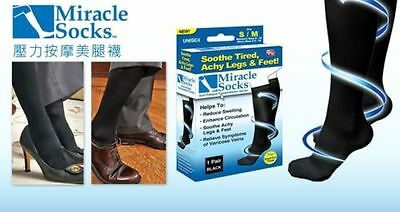 Miracle Socks Compressio Relief for Aching Feet Varicose Veins DVT Flight Travel