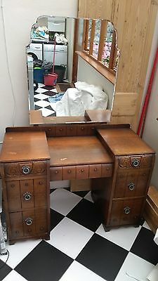 Oak Vintage Traditional Utility Furniture Dressing Table 1930's/1940's/1950's