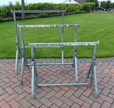 3 Galvanised Steel Adjustable Builders Trestles