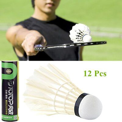 12pcs/set Professional Goose Feather Badminton Competition Gaming Shuttlecock LN