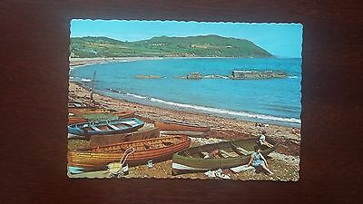 Bray Head from Greystones Co Wicklow - postcard (1968)