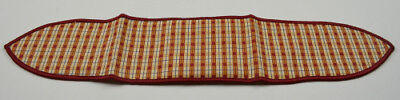 Longaberger Orchard Plaid Medium Handle Tie Acessory Collectble Fabric Decor