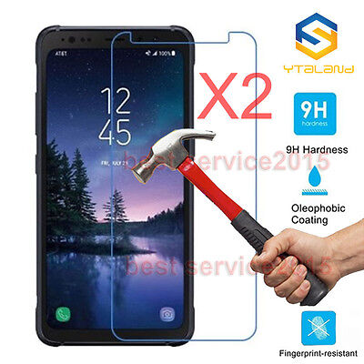 2Pcs 9H Premium Tempered Glass Screen Protector For Samsung Galaxy S8 Active