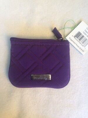 Vera Bradley Coin Purse Wallet Quilted, Elderberry (Purple)  RV $18